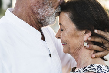 Mature couple still in love