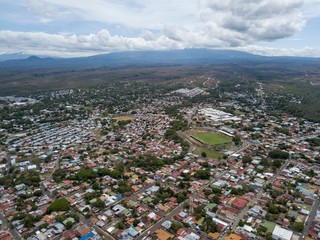 Beautiful aerial view of Liberias, Guanacaste,  Costa Rica