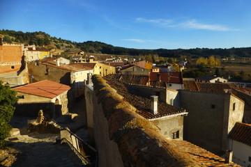 Luco de Jiloca, pueblo de Calamocha, en el Jiloca, provincia de Teruel, Aragón (España)
