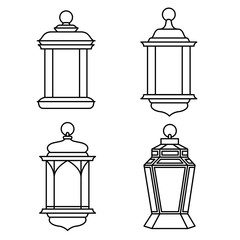 Set of Ramadan Lanterns-Vector Illustration