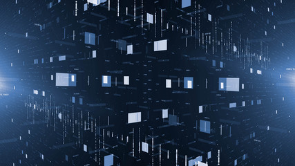 Wall Mural - illustration of Futuristic digital data Network,technology  Abstract background