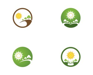 Nature tree icon logo vector template