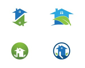 Building home nature logo template