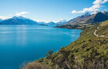 Aluminium Prints New Zealand View from the head of lake Wakatipu the third largest lake in New Zealand.