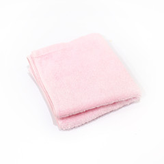Pink Towel on White Background
