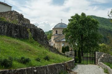 The church in the orthodox monastery Gradac in Serbia. Gradac Monastery is located in Golija tourist region, and near the tourist center Kopaonik.