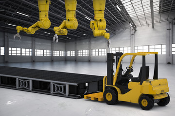 robot arm with forklift