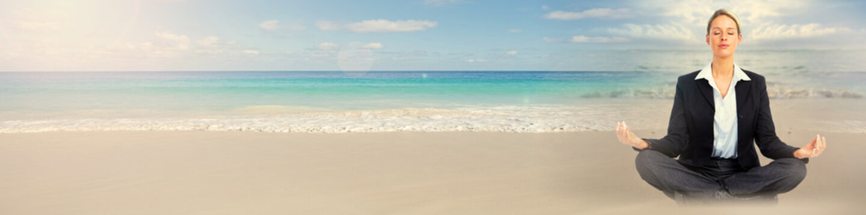 Meditation on beach