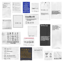 Clothes labels isolated