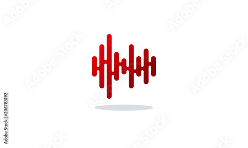 modern sound wave vector illustration stock image and royalty free rh fotolia com sound wave vector art sound wave vector art