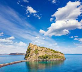 Aragonese Castle is most visited landmark near Ischia island, Italy