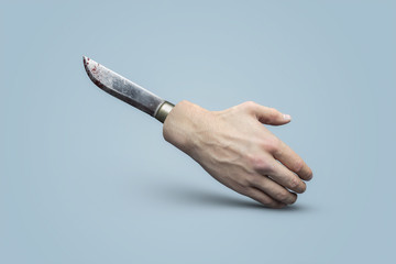 Stabbed in the Back (Clipping Path) Wall mural