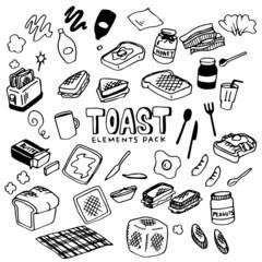 Toast Illustration Pack