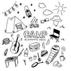 Camp Illustration Pack