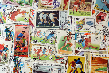 postage stamps football