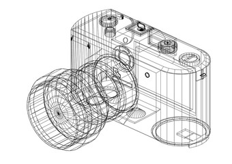 Old Camera Architect blueprint - isolated