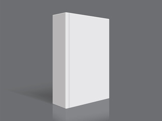 white book with thick cover isolated on black background mock up