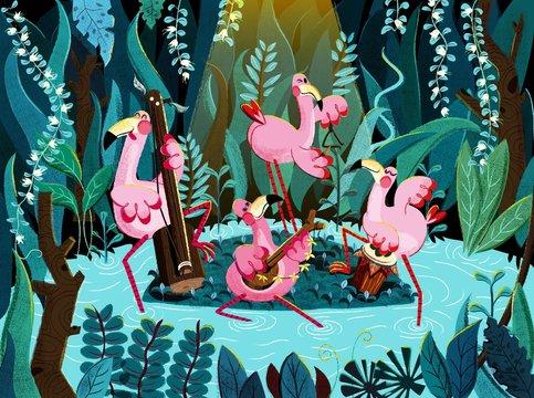 Flamingo band