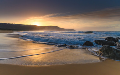 Sun Rising over the Headland - Seascape