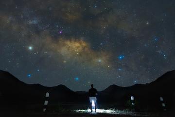little man looking Milky Way