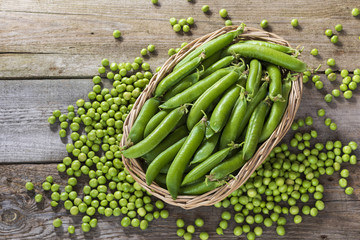peas in a basket