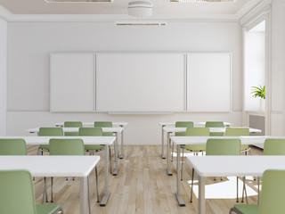 modernes klassenzimmer mit einem beamer