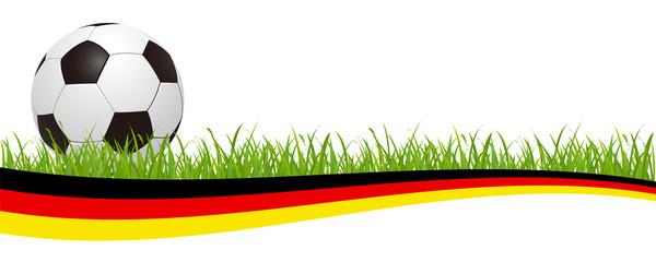 Soccer ball on the german flag – stock vector