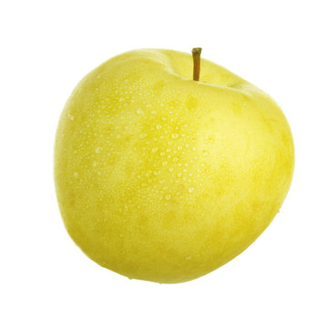 yellow apple  isolated on white