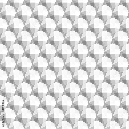 Seamless 3d white diamond background texture - eps10 vector