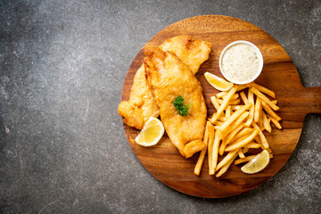 fish and chips with french fries