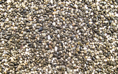 background of small round natural stones