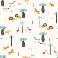 Safari animals pattern for kid