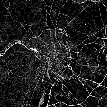 Area map of Dijon, France