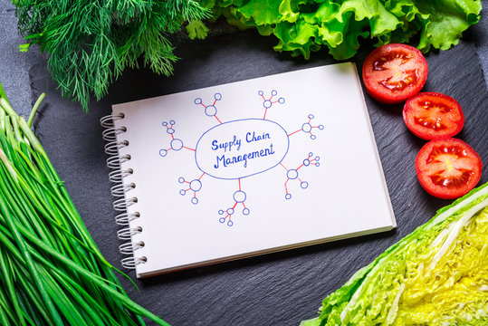 Vegetarian food, Supply chain management concept