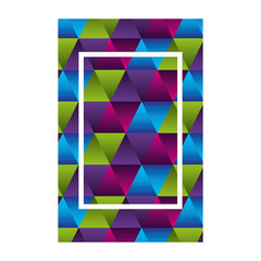 geometric figures and colors workart frame vector illustration design