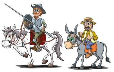 Don Quichotte, Cartoon