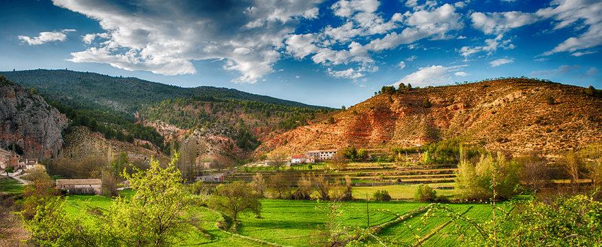 Beautiful countryside landscape in Spain