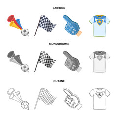 Pipe, uniform and other attributes of the fans.Fans set collection icons in cartoon,outline,monochrome style vector symbol stock illustration web.
