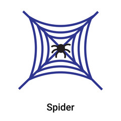 Spider icon vector sign and symbol isolated on white background