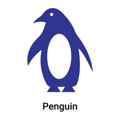 Penguin icon vector sign and symbol isolated on white background