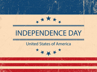 United States of America. 4th of July. Independence Day. Vector 10. Vintage poster