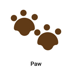 Paw icon vector sign and symbol isolated on white background