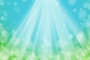 Abstract Bokeh Background. Gradient Green and Blue with Spotlight. Can use Sale sign, flyer, poster, shopping, card, website, party, promotion.