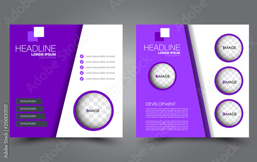 square flyer template simple brochure design for business and