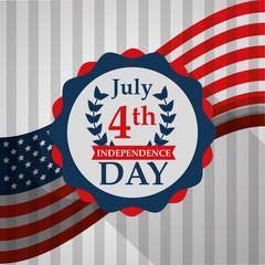 national flag memorial celebration american independence day vector illustration
