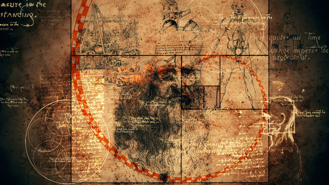 Code Da Vinci, Portrait and Golden Ratio