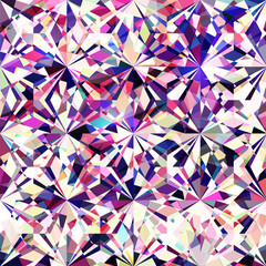 Seamless colorful diamond texture - crystallic background - vector eps10