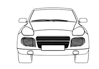 sketch SUV car vector