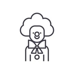 Clown black icon concept. Clown flat  vector symbol, sign, illustration.