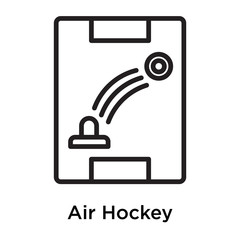 Air Hockey icon vector sign and symbol isolated on white background